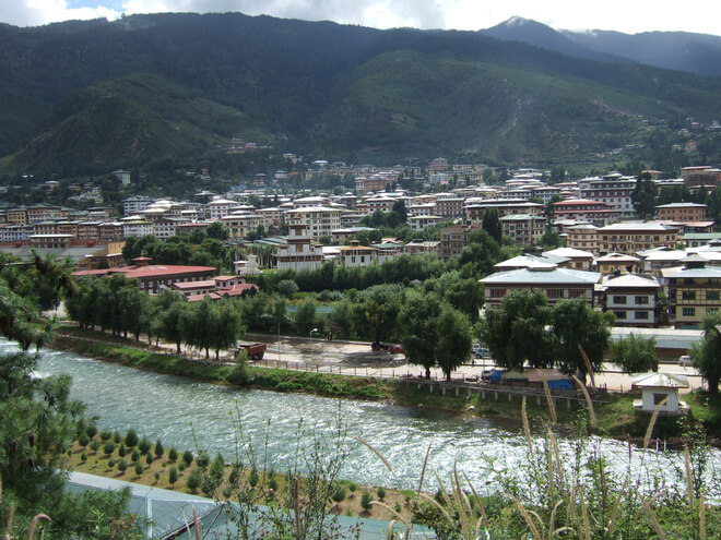 Thimphu city captial of Country Bhutan